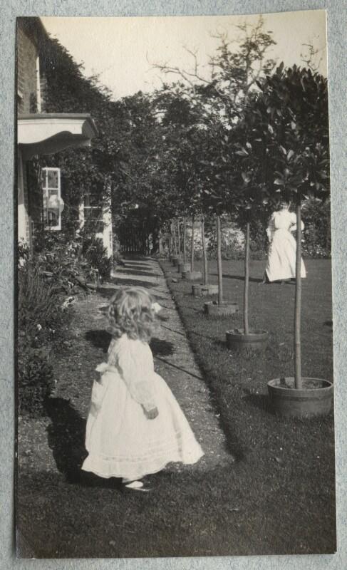 Julian Vinogradoff (née Morrell); Nurse Nina, by Lady Ottoline Morrell, 1908 - NPG Ax140088 - © National Portrait Gallery, London