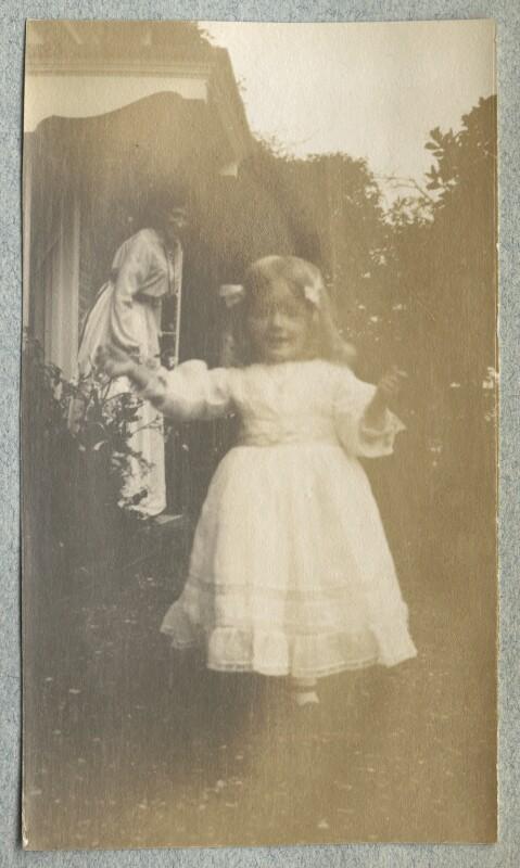 Lady Ottoline Morrell; Julian Vinogradoff (née Morrell), by Philip Edward Morrell, 1908 - NPG Ax140089 - © National Portrait Gallery, London