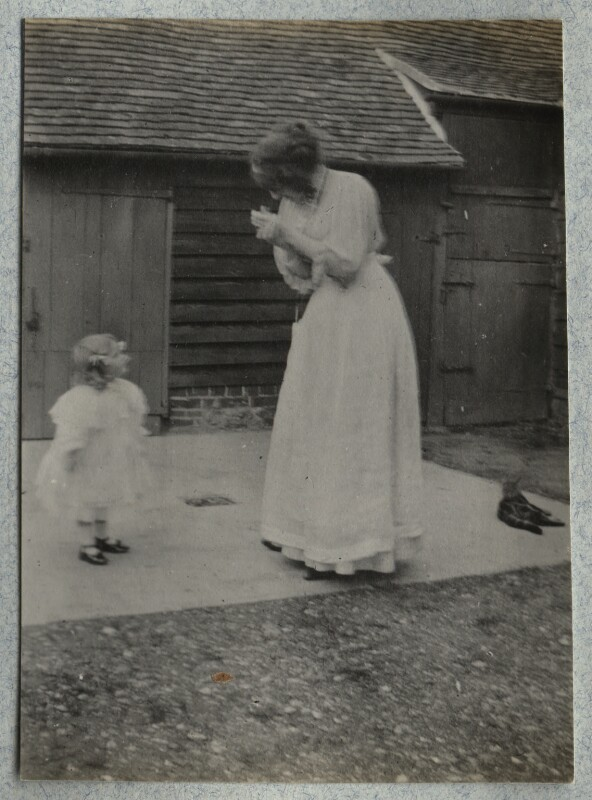 Julian Vinogradoff (née Morrell); Lady Ottoline Morrell, by Philip Edward Morrell, October 1908 - NPG Ax140099 - © National Portrait Gallery, London