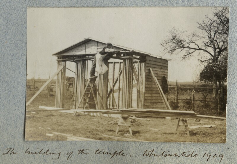'The Building of the Temple', by Lady Ottoline Morrell, 30 May 1909 - NPG Ax140115 - © National Portrait Gallery, London