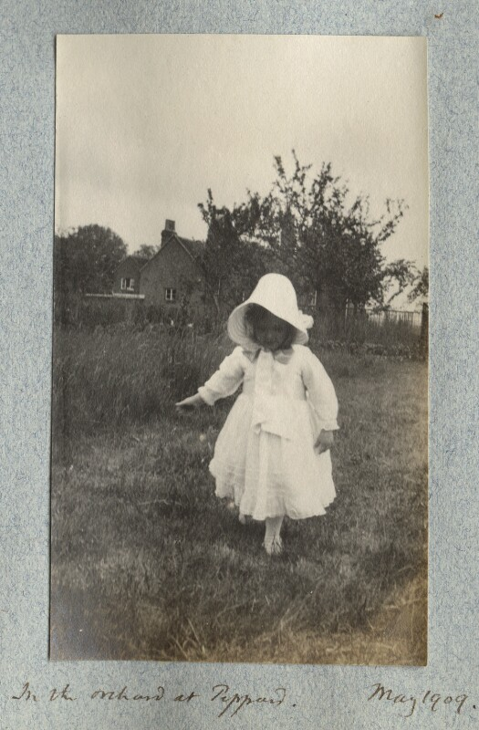 'In the orchard at Peppard' (Julian Vinogradoff (née Morrell)), by Lady Ottoline Morrell, May 1909 - NPG Ax140119 - © National Portrait Gallery, London
