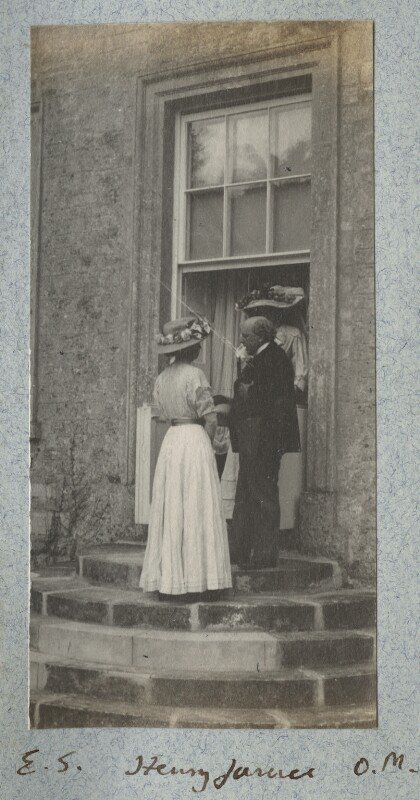 Ethel Sands; Henry James; Lady Ottoline Morrell), by Unknown photographer, 23 May 1909 - NPG Ax140125 - © National Portrait Gallery, London