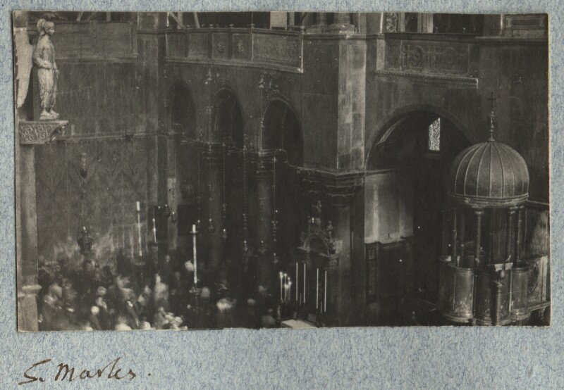 Interior of St Mark's Basilica, by Lady Ottoline Morrell, August-September 1908 - NPG Ax140047 - © National Portrait Gallery, London