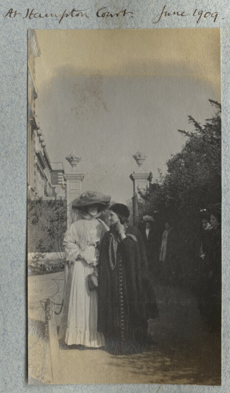 Lady Ottoline Morrell; Dorelia McNeill, possibly by Philip Edward Morrell, June 1909 - NPG Ax140136 - © National Portrait Gallery, London