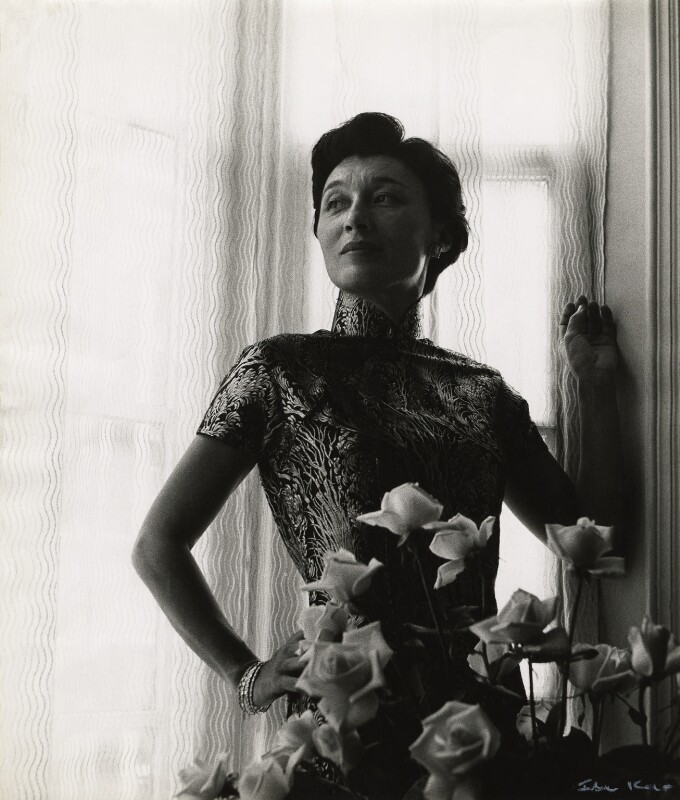 Han Suyin (née Elizabeth Kuanghu Chow, later Comber), by Ida Kar, 1958 - NPG x127119 - © National Portrait Gallery, London