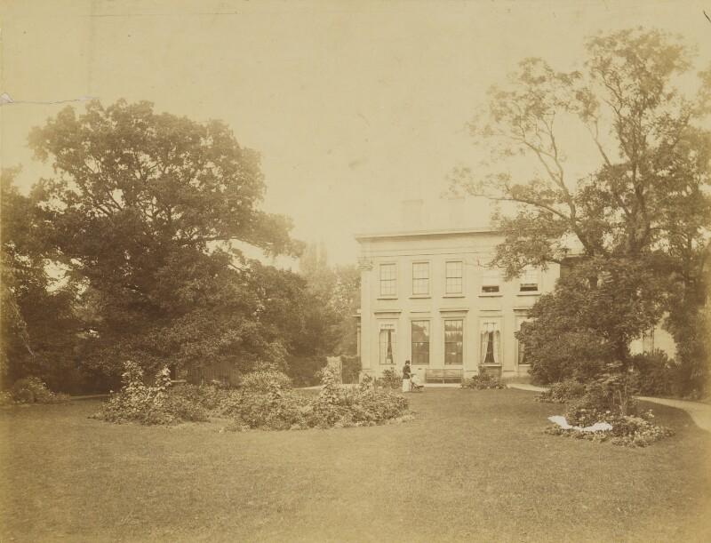 Eveleen Myers (née Tennant); Leopold Hamilton Myers at Brandon House, Cheltenham, by Unknown photographer, circa 1882 - NPG Ax68302 - © National Portrait Gallery, London