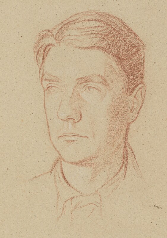 John Drinkwater, by Sir William Rothenstein, 1919 - NPG 6707 - © National Portrait Gallery, London
