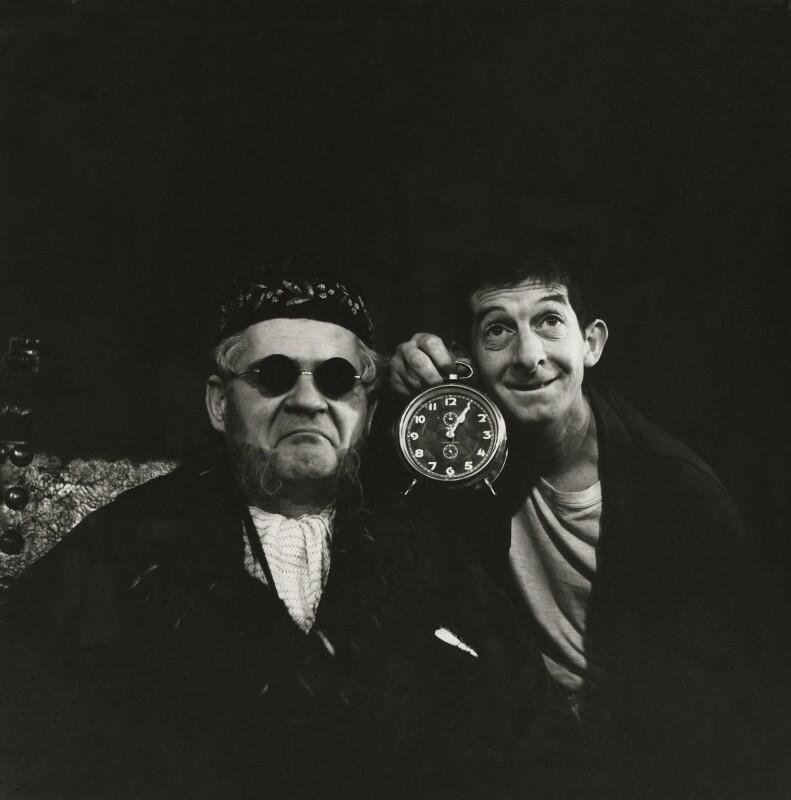 George Devine as Hamm; Jack MacGowran as Clov in 'Endgame', by Ida Kar, 1958 - NPG x127140 - © National Portrait Gallery, London