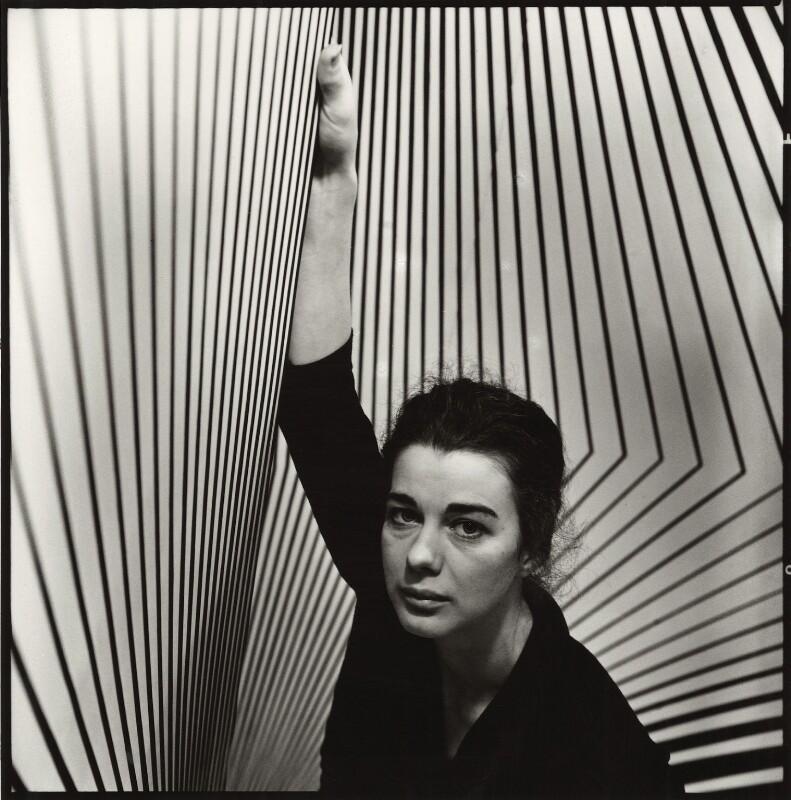 Bridget Riley, by Ida Kar, 1963 - NPG x127158 - © National Portrait Gallery, London