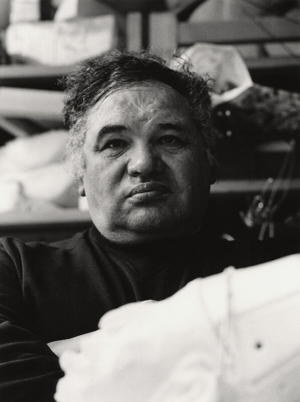 Sir Eduardo Paolozzi, by Jill Kennington, 1987 - NPG x127148 - © Jill Kennington / National Portrait Gallery, London