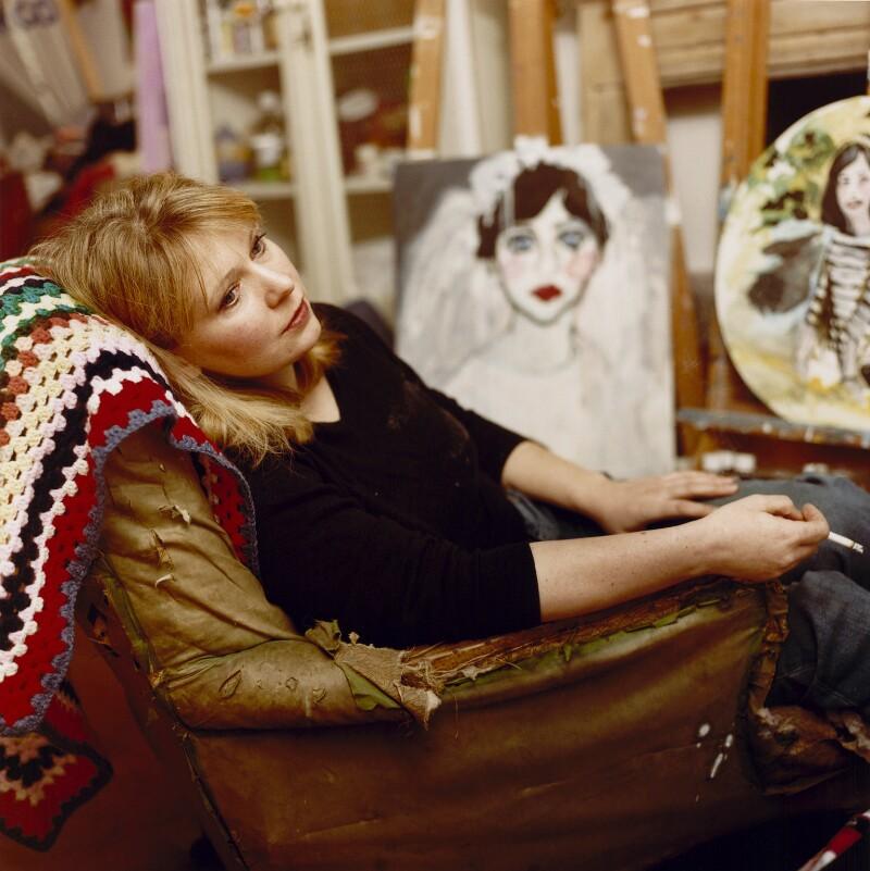 Stella Vine (née Melissa Robson), by Venetia Dearden, January 2004 - NPG x127161 - © Venetia Dearden / National Portrait Gallery, London