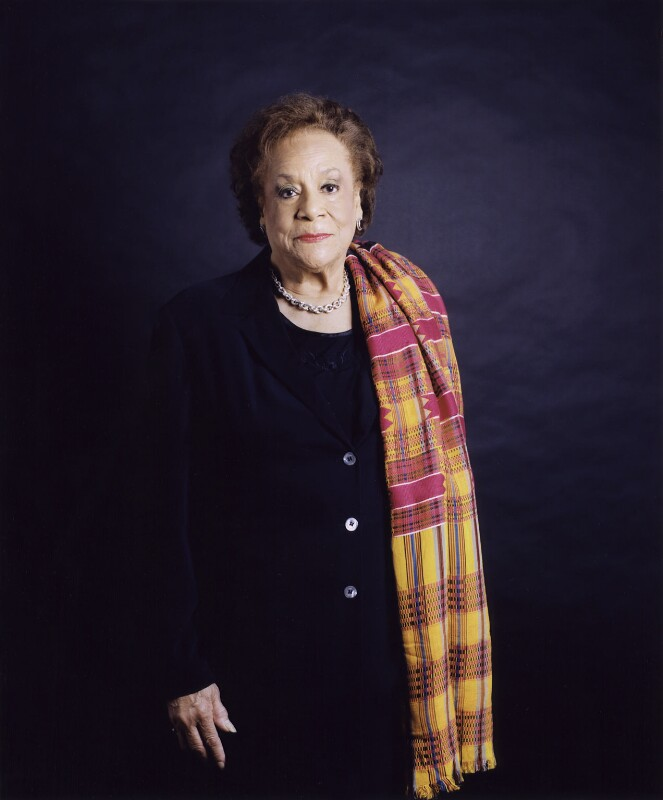 Dame Jocelyn Anita Barrow, by Sal Idriss, October 2004 - NPG x127165 - © Sal Idriss / National Portrait Gallery, London