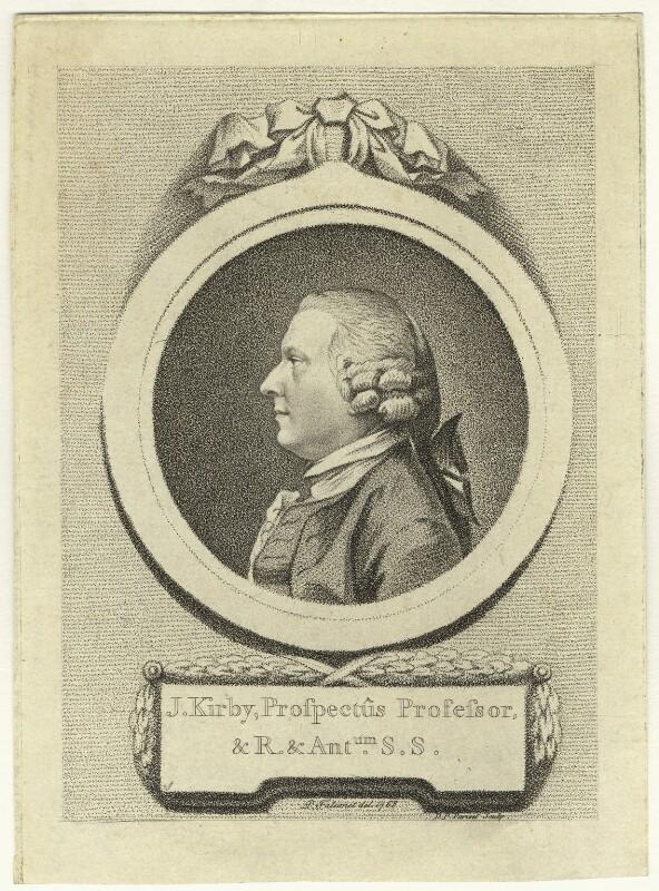 John (John) Joshua Kirby, by D.P. Pariset, after  Pierre-Étienne Falconet, 1768 - NPG D20562 - © National Portrait Gallery, London