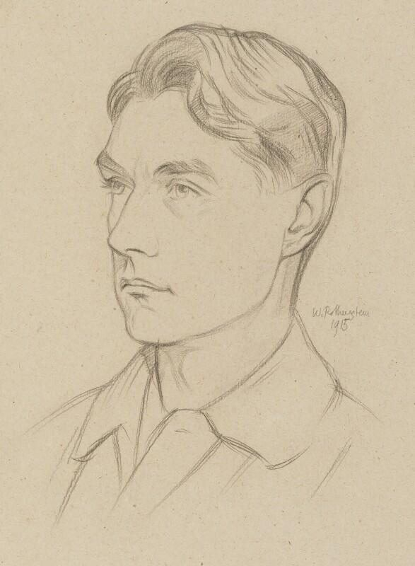John Drinkwater, by Sir William Rothenstein, 1915 - NPG 6708 - © National Portrait Gallery, London