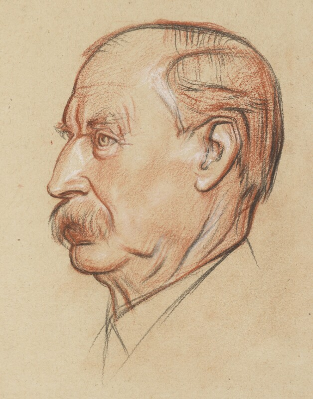 Sir Aston Webb, by William Rothenstein, circa 1922 -NPG 6713 - © National Portrait Gallery, London
