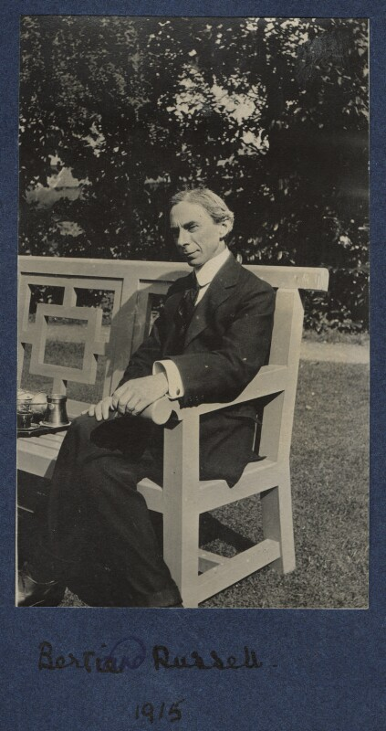 Bertrand Arthur William Russell, 3rd Earl Russell, by Julian Vinogradoff (née Morrell), 1915 - NPG Ax140440 - © National Portrait Gallery, London