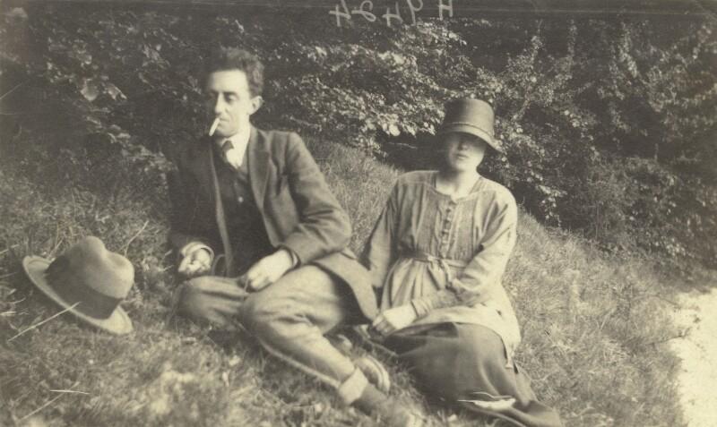 John Nash; Christine Kühlenthal, by Unknown photographer, 1920 - NPG x127173 - © National Portrait Gallery, London