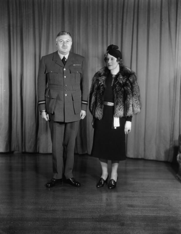 Sir (William) Lindsay Everard; Cornelia Ione Kathleen (née Beresford-Armstrong), Lady Everard, by Bassano Ltd, 20 December 1939 - NPG x124405 - © National Portrait Gallery, London