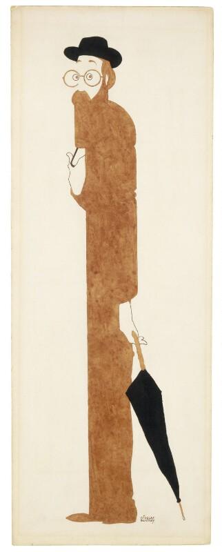Lytton Strachey, by Nicolas Clerihew Bentley, circa 1928-1930 - NPG 6842 - © reserved; collection National Portrait Gallery, London