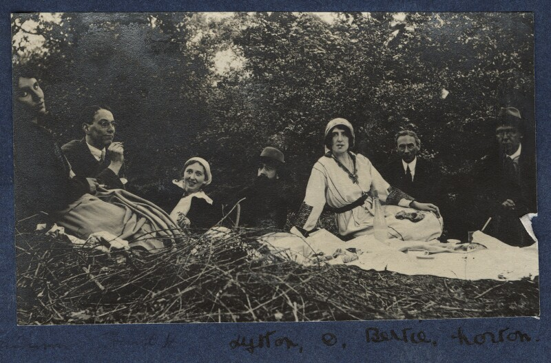 'Picnic in the woods', by Unknown photographer, September 1915 - NPG Ax140441 - © National Portrait Gallery, London