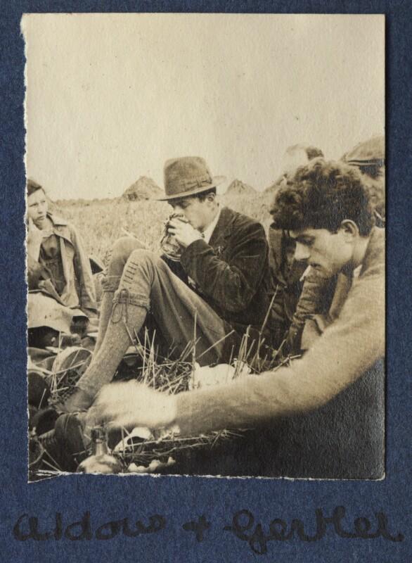 Madeline Clinkard; Aldous Huxley; Mark Gertler; Philip Edward Morrell, by Lady Ottoline Morrell, 1917 - NPG Ax140530 - © National Portrait Gallery, London