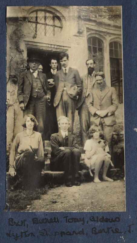 Garsington visitors, by Lady Ottoline Morrell, 1916 - NPG Ax140546 - © National Portrait Gallery, London