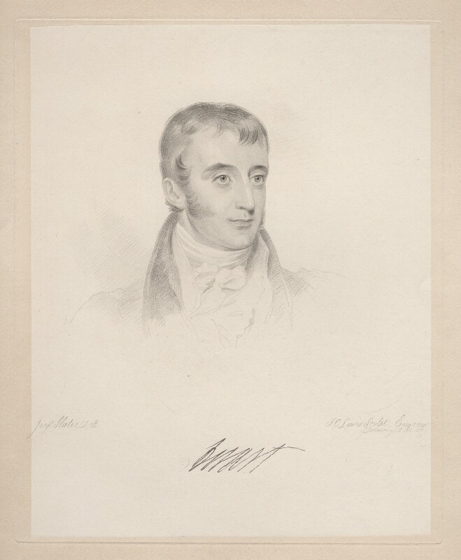 John Otway Cuffe, 2nd Earl of Desart, by Frederick Christian Lewis Sr, after  Joseph Slater, 1826 or after - NPG D20578 - © National Portrait Gallery, London