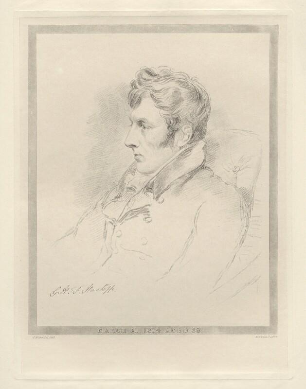 George Harry William Fleetwood Hartopp, by Frederick Christian Lewis Sr, after  Joseph Slater, 1824 (1819) - NPG D20582 - © National Portrait Gallery, London