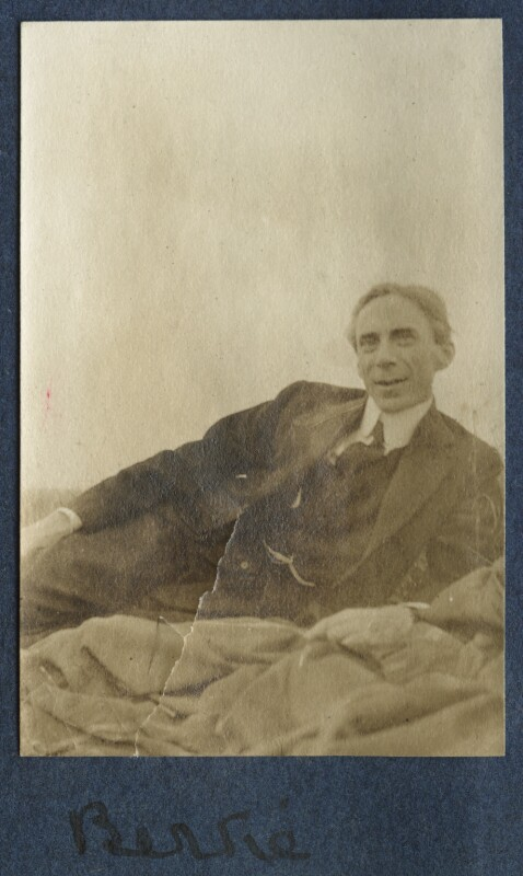 Bertrand Arthur William Russell, 3rd Earl Russell, by Lady Ottoline Morrell, 1917 - NPG Ax140608 - © National Portrait Gallery, London