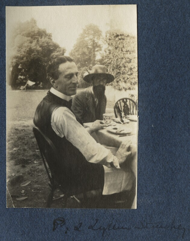 Philip Edward Morrell; Lytton Strachey, by Lady Ottoline Morrell, 1917 - NPG Ax140611 - © National Portrait Gallery, London
