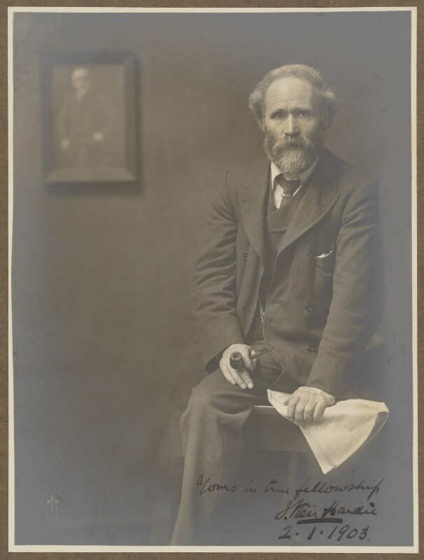 Keir Hardie, by (John) Furley Lewis, 1902 - NPG P1091 - © National Portrait Gallery, London