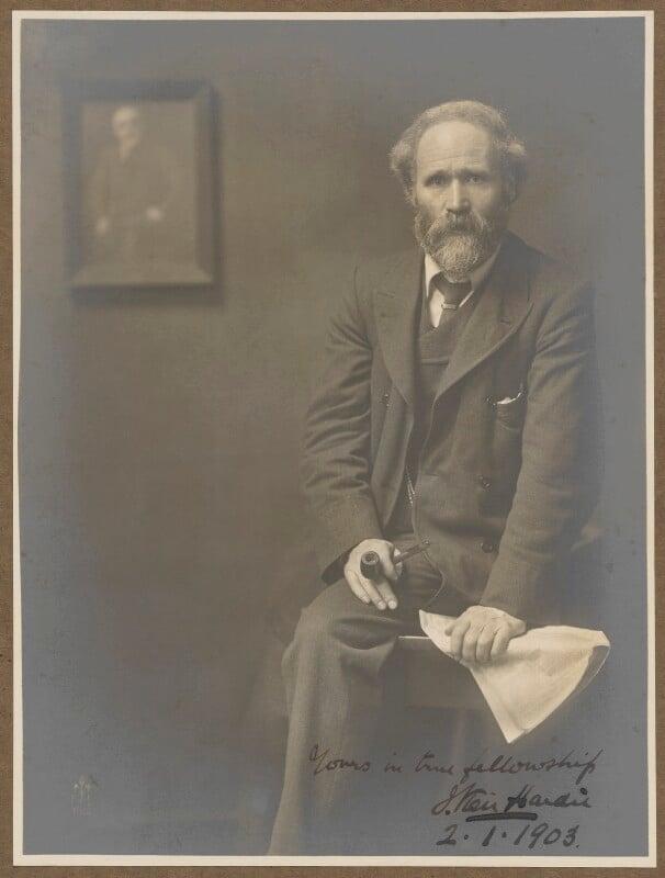 Keir Hardie, by (John) Furley Lewis, 1902 - NPG P1091 - © National Portrait Gallery, London