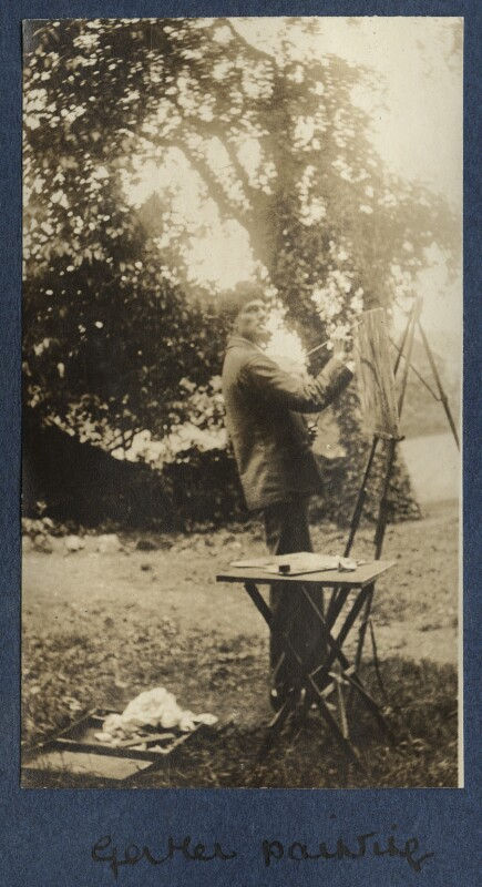 Mark Gertler, by Lady Ottoline Morrell, 1917 - NPG Ax140642 - © National Portrait Gallery, London