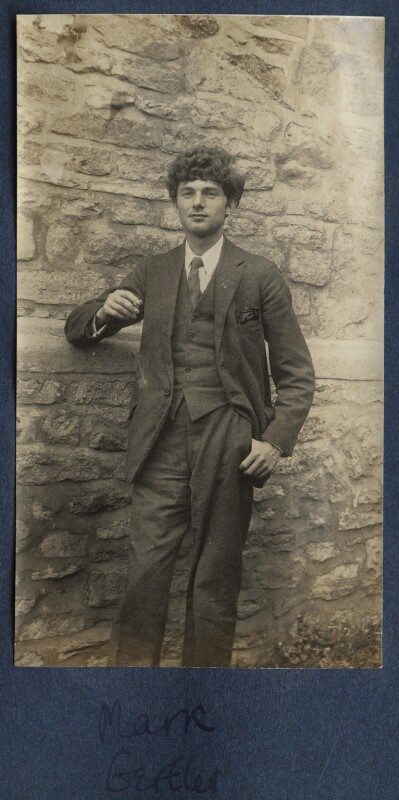 Mark Gertler, by Lady Ottoline Morrell, 1918 - NPG Ax140644 - © National Portrait Gallery, London