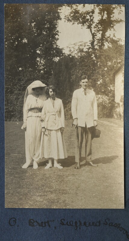 Lady Ottoline Morrell; Dorothy Brett; Siegfried Sassoon, by Lady Ottoline Morrell, 1917 - NPG Ax140647 - © National Portrait Gallery, London