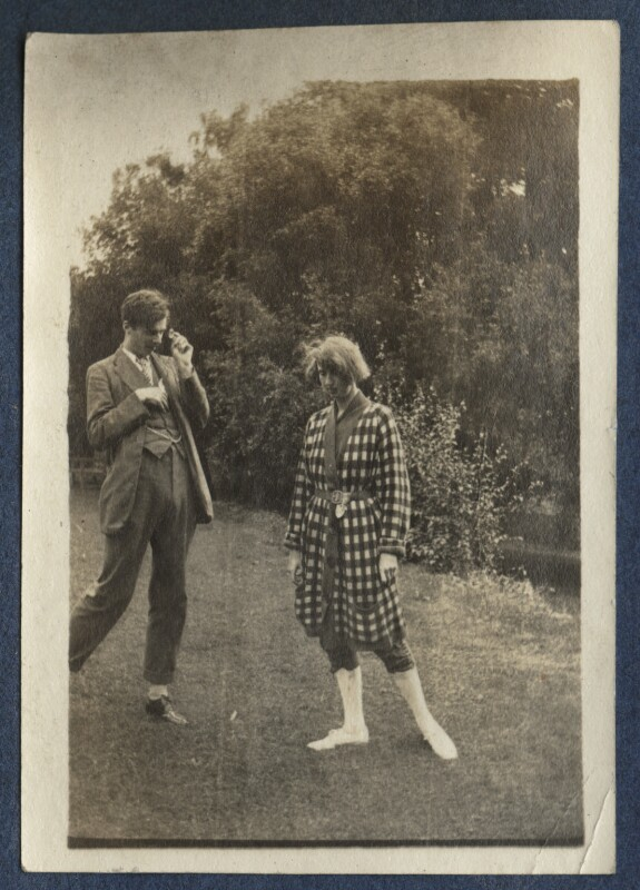 Aldous Huxley; Dorothy Brett, by Lady Ottoline Morrell, 1917 - NPG Ax140685 - © National Portrait Gallery, London