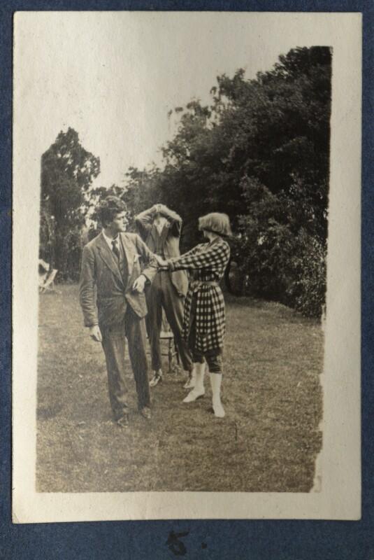 Mark Gertler; Aldous Huxley; Dorothy Brett, by Lady Ottoline Morrell, 1917 - NPG Ax140689 - © National Portrait Gallery, London
