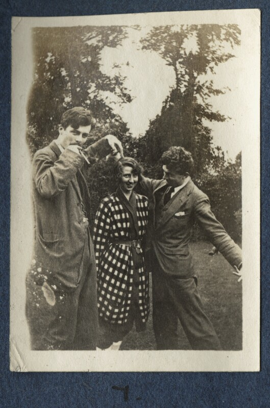Aldous Huxley; Dorothy Brett; Mark Gertler, by Lady Ottoline Morrell, 1917 - NPG Ax140691 - © National Portrait Gallery, London