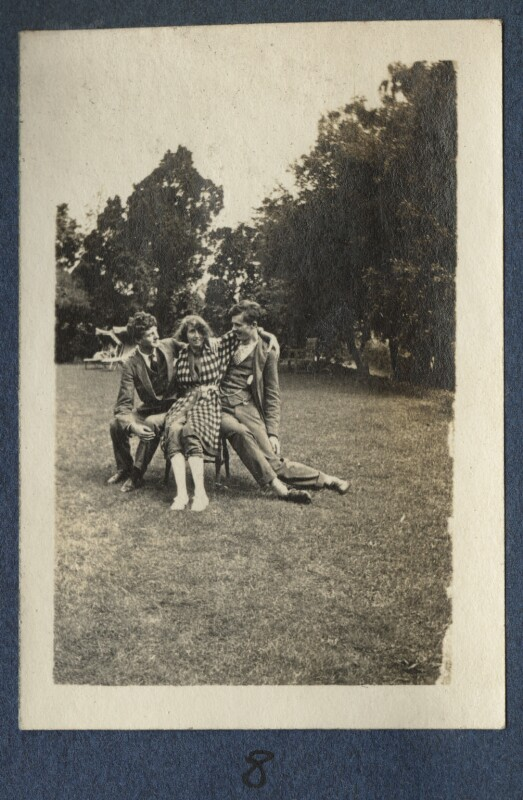 Mark Gertler; Dorothy Brett; Aldous Huxley, by Lady Ottoline Morrell, 1917 - NPG Ax140692 - © National Portrait Gallery, London