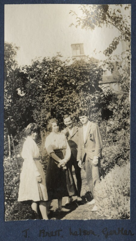 Julian Vinogradoff (née Morrell); Dorothy Brett; Geoffrey Nelson; Mark Gertler, by Lady Ottoline Morrell, 1919 - NPG Ax140696 - © National Portrait Gallery, London
