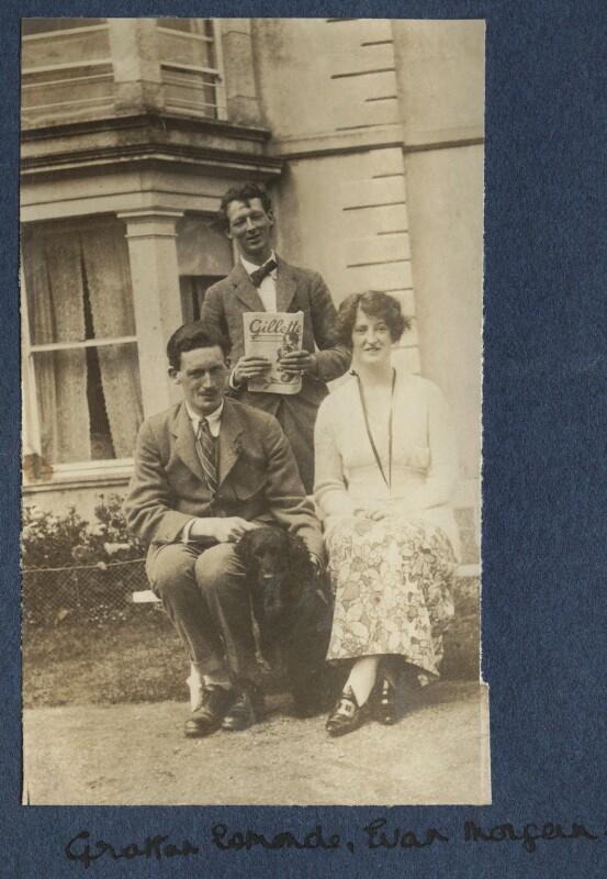 Sir Osmond Thomas Esmonde, 12th Bt; Evan Morgan, 2nd Viscount Tredegar; Lois Ina (née Sturt), Viscountess Tredegar, by Lady Ottoline Morrell, 1919 - NPG Ax140724 - © National Portrait Gallery, London
