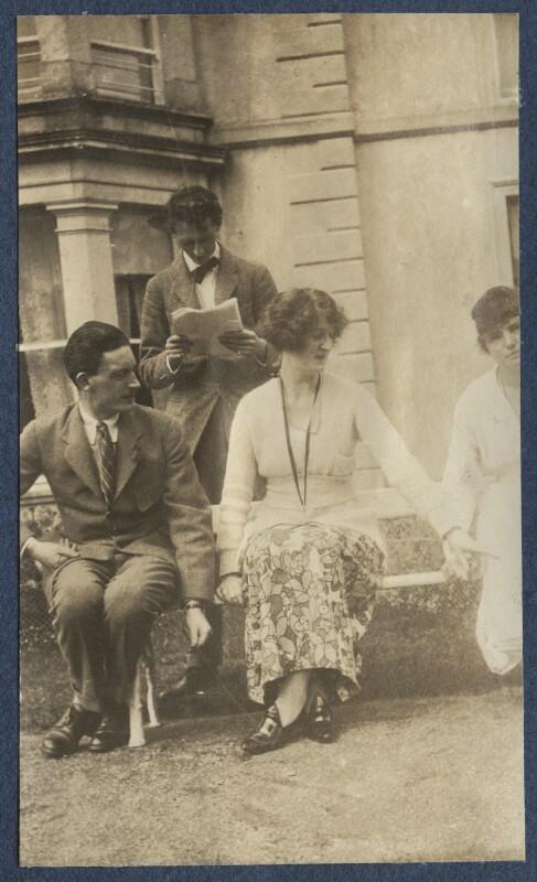 Sir Osmond Thomas Esmonde, 12th Bt; Evan Morgan, 2nd Viscount Tredegar; Lois Ina (née Sturt), Viscountess Tredegar, by Lady Ottoline Morrell, 1919 - NPG Ax140726 - © National Portrait Gallery, London