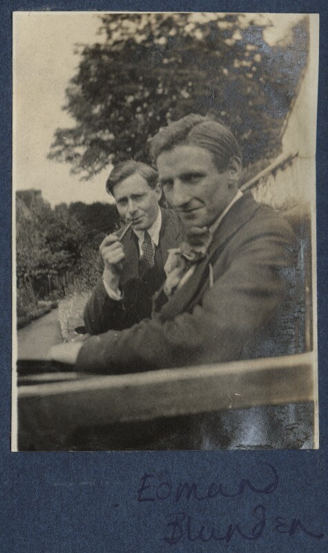 Edward George Downing Liveing; Edmund Blunden, by Lady Ottoline Morrell, 1920 - NPG Ax140778 - © National Portrait Gallery, London