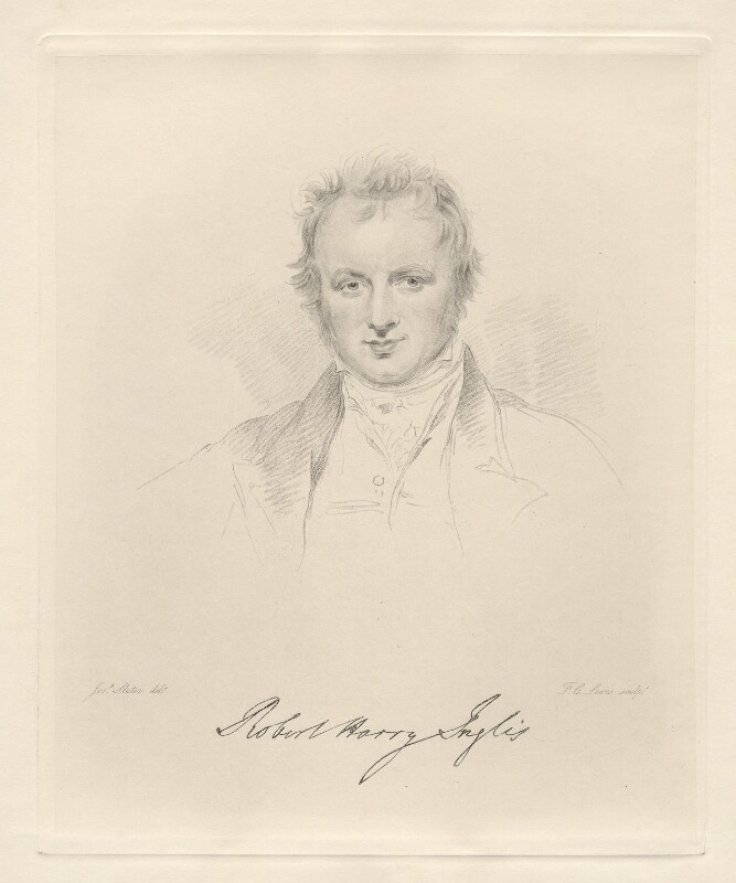 Sir Robert Harry Inglis, 2nd Bt, by Frederick Christian Lewis Sr, after  Joseph Slater, 1826 or after - NPG D20583 - © National Portrait Gallery, London