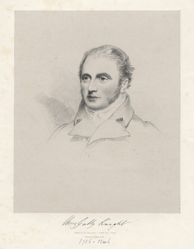 Henry Gally Knight, by Richard James Lane, after  Joseph Slater, 1826 or after - NPG D20584 - © National Portrait Gallery, London