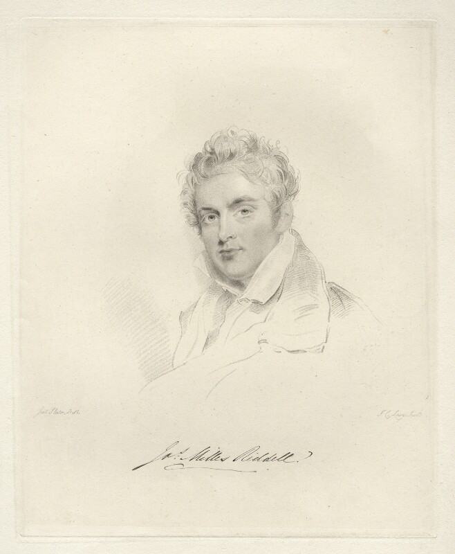 Sir James Milles Riddell, Bt, by Frederick Christian Lewis Sr, after  Joseph Slater, 1826 or after - NPG D20588 - © National Portrait Gallery, London