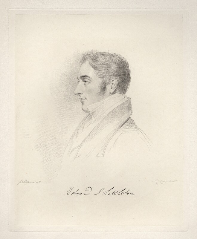 Edward John Littleton, 1st Baron Hatherton, by Frederick Christian Lewis Sr, after  Joseph Slater, 1826 or after - NPG D20591 - © National Portrait Gallery, London