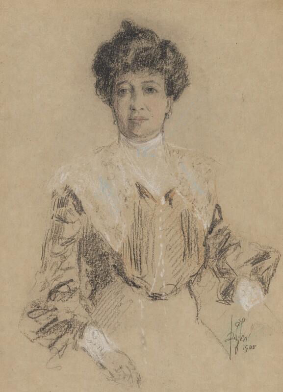 Emma Albani, by Richard George Mathews, 1905 - NPG 6729 - © estate of Richard George Mathews / National Portrait Gallery, London