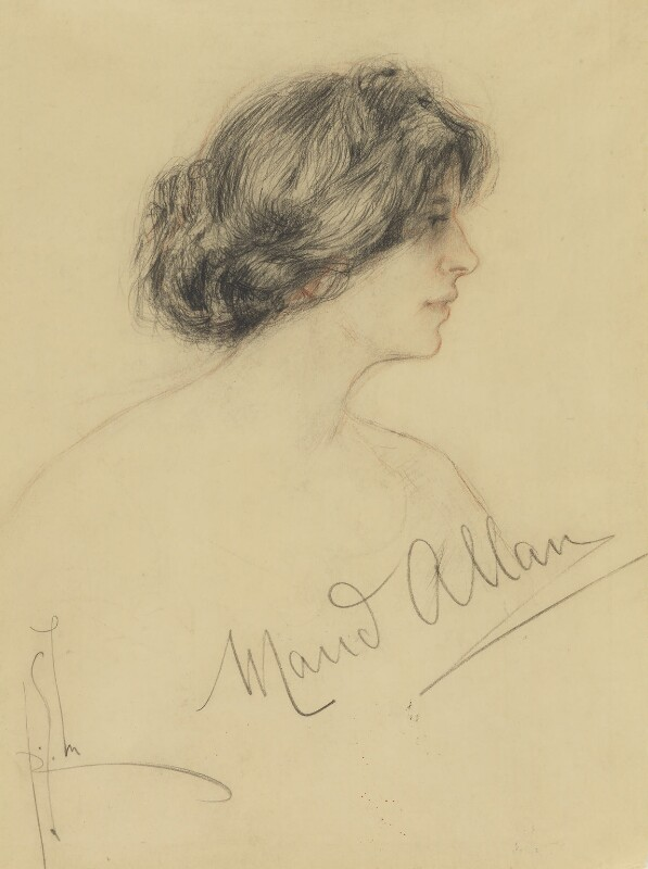 Maud Allan, by Richard George Mathews, circa 1908 - NPG 6730 - © estate of Richard George Mathews / National Portrait Gallery, London