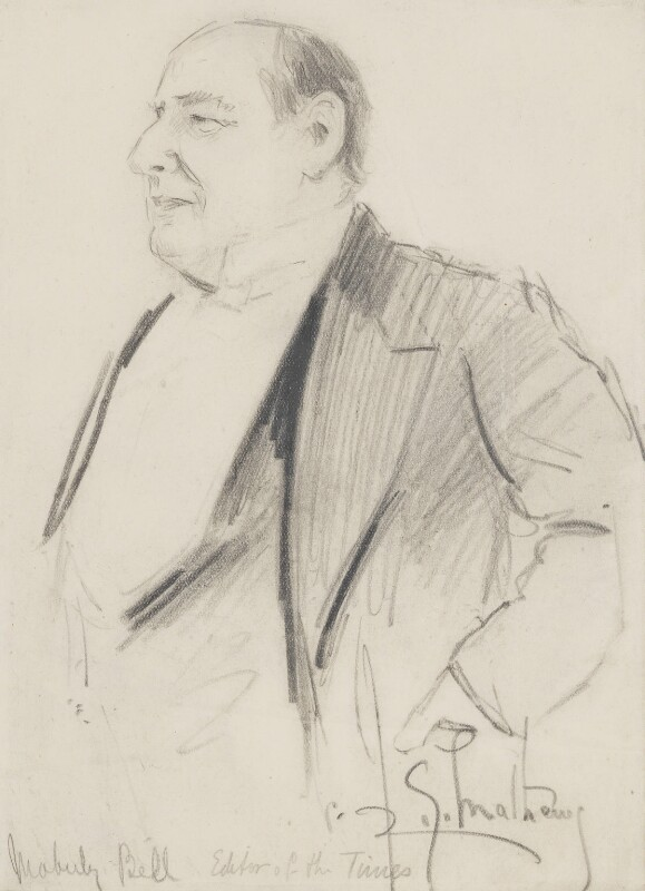 Charles Frederic Moberly Bell, by Richard George Mathews, circa 1910 - NPG 6731 - © estate of Richard George Mathews / National Portrait Gallery, London